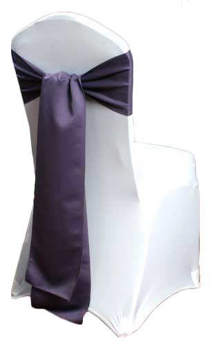 Victorian Lilac Matte Satin Chair Sashes
