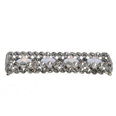 Crystal Gem Rectangle Tealight Holder Rental