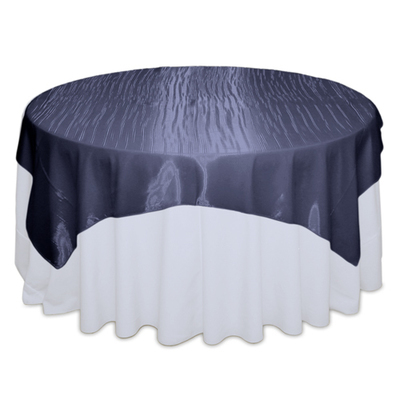 Navy Mirror Table Overlay Rental