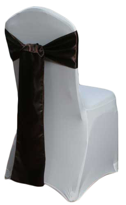 Brown Satin Chair Sash Rental