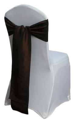 Brown Taffeta Chair Sashes