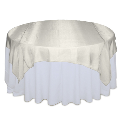 Ivory Sheer Table Overlay Rental