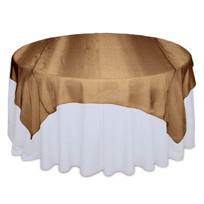 Cinnamon Sheer Table Overlay Rental