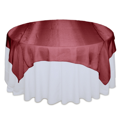 Red Raspberry Sheer Table Overlay Rental