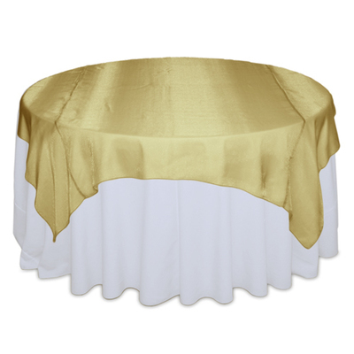 Gold Sheer Table Overlay Rental