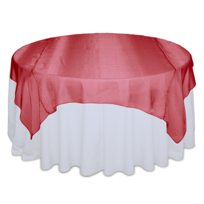 Red Sheer Table Overlay Rental