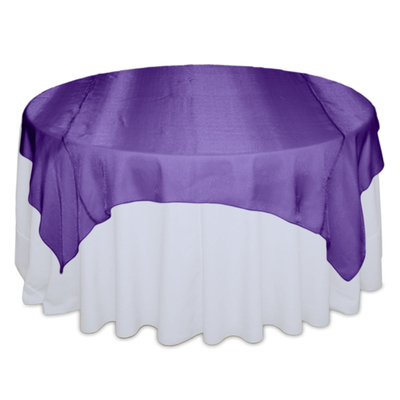Purple Sheer Table Overlay Rental