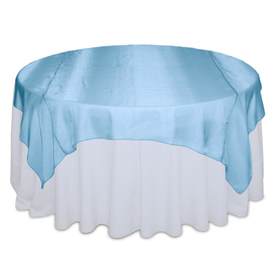 Turquoise Sheer Table Overlay Rental