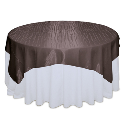 Chocolate Mirror Table Overlay Rental