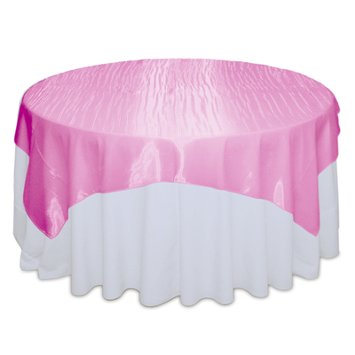 Pink Raspberry Mirror Table Overlay Rental