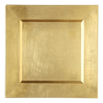 Gold Charger Plates - Square
