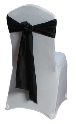 Black Organza Satin Sash Rental
