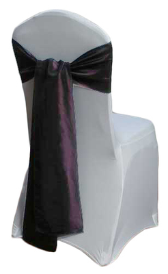 Eggplant Taffeta Chair Sashes