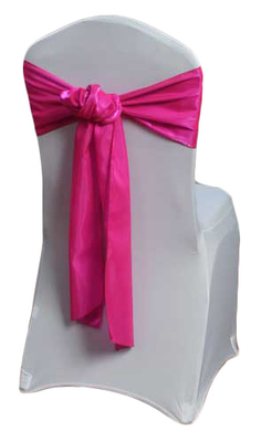Fuchsia Organza Satin Dark Chair Sashes