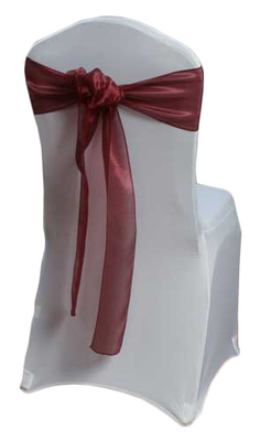 Burgundy Mirror Chair Sashes