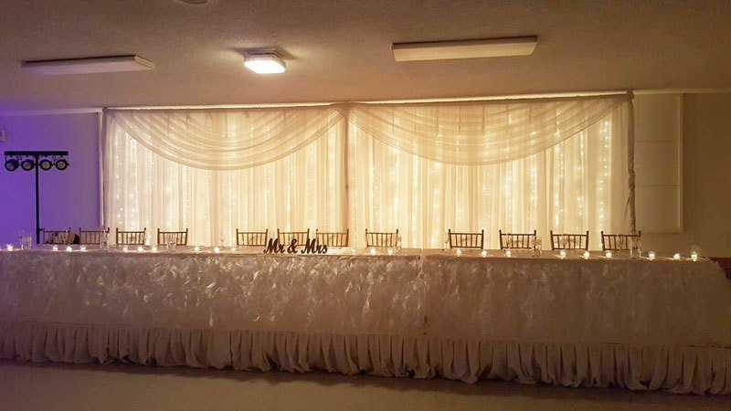 Sheer Lighted Backdrop - Setup & Tear Down Included - Per 12' Section