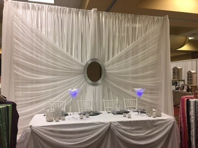 Silver Mirror Backdrop - 12' - Includes Setup & Tear Down