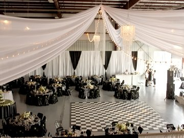 DIY White Sateen Wall Draping - 12' Height - Per Foot