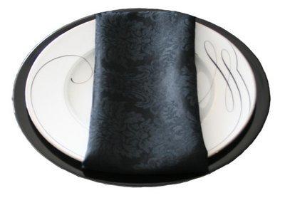Black Damask Napkin Rental