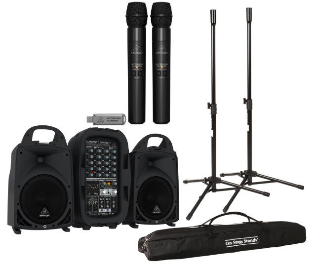 Portable PA System Rental - With Wireless Microphone
