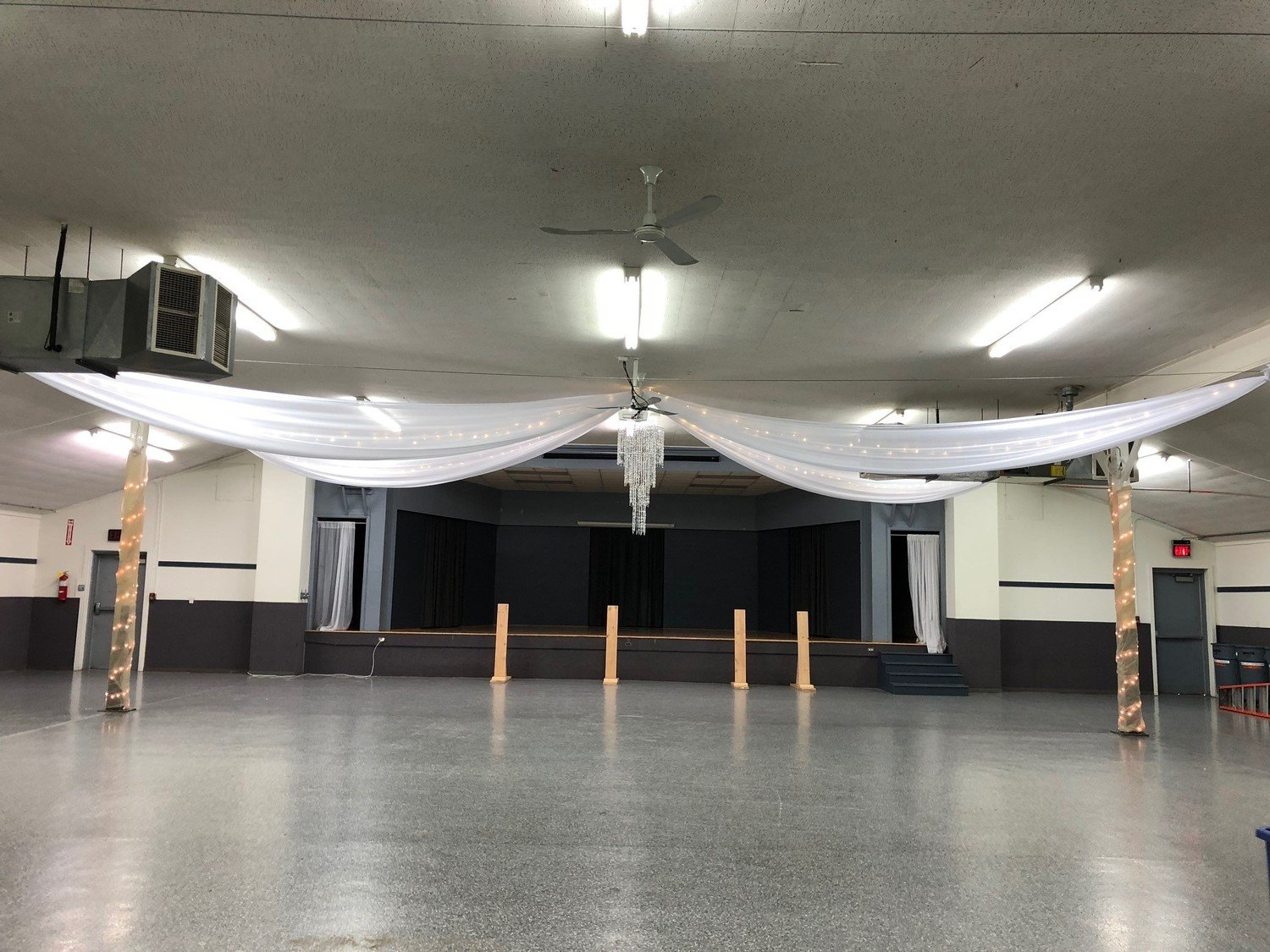 Boone County Fairgrounds Ceiling Draping