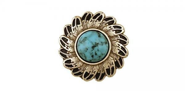 Turquoise Feather Conchos