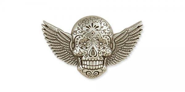 Sugar Skull Conchos Winged