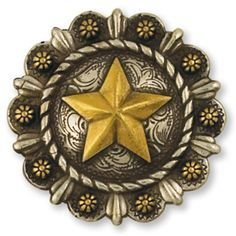 """Roped Berry Star Concho 1 1/4"""""""