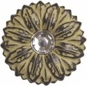Crystal Sunflower Concho Yellow 1""
