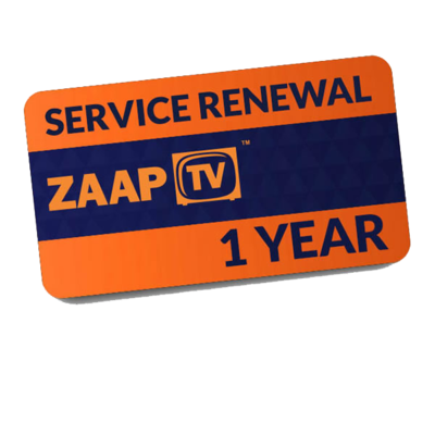 Zaap TV Greek - Renewal Card Only (1 year subscription)