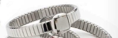 Bracelet: Flexi - with Large grey Swarovski Crystal