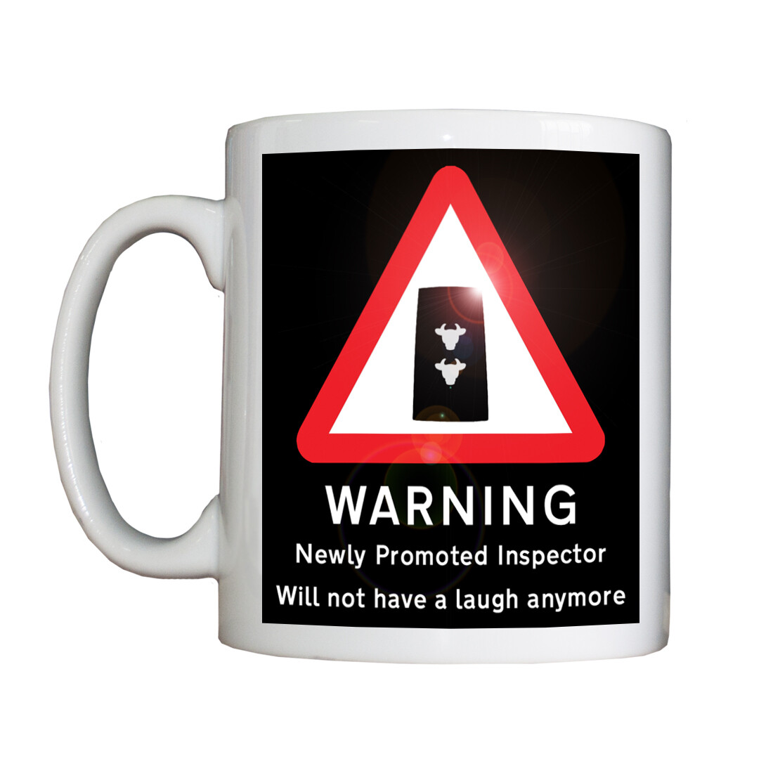 Personalised 'Newly Promoted Inspector' Drinking Vessel