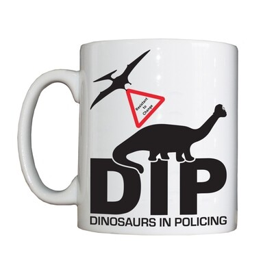 Personalised 'Dinosaurs in Policing' Drinking Vessel