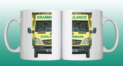 TWO Personalised 'Brambulance' Drinking Vessels
