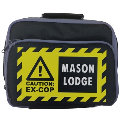 Personalised 'CAUTION: EX-COP' Lunch Bag