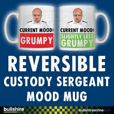 Reversible/Personalised 'Custody Sergeant Mood' Drinking Vessel