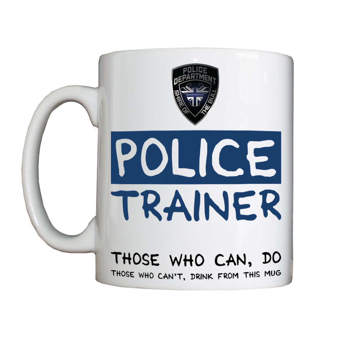 Personalised 'Police Trainer' Drinking Vessel
