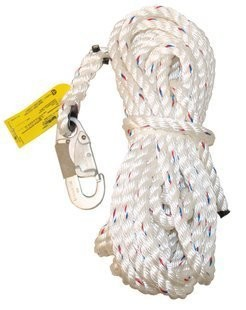 3M LIFELINE ROPE WITH DOUBLE LOCKING SNAP