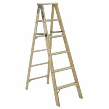 10' STEP LADDER, WOOD, 250 LBS HDY/TYPE I