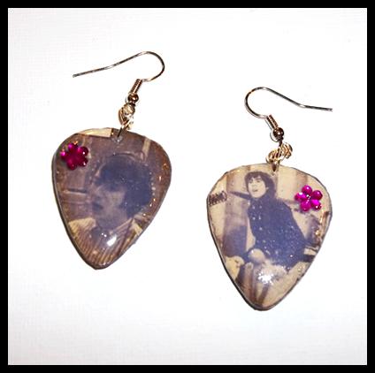*Sale* More Of The Monkees Guitar Pick Earrings