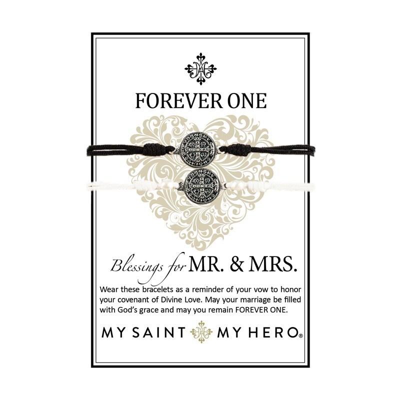 Forever One Bracelets: Blessings for MR. & MRS. (My Saint My Hero)