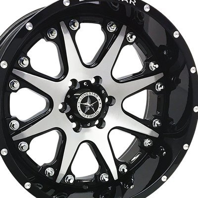 20x10 Gloss Black w/Brushed Face Bandit Wheel, 6x135mm, F150