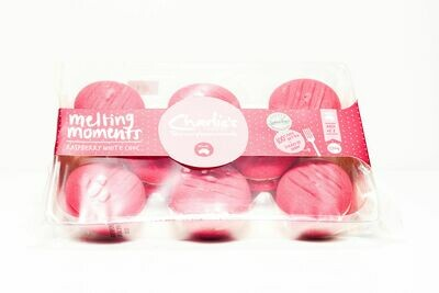 Charlie's Raspberry White Choc Melting Moments 220g