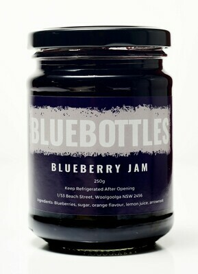 Bluebottles House-made Blueberry Jam 250g