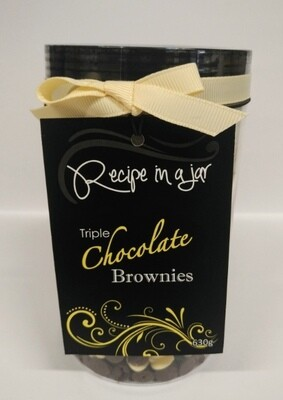 Recipe in a Jar - Triple Choc Brownie Mix Sml 630g