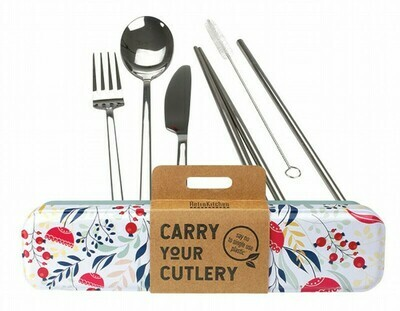 RetroKitchen Carry Your Cutlery Set - Botanical Design