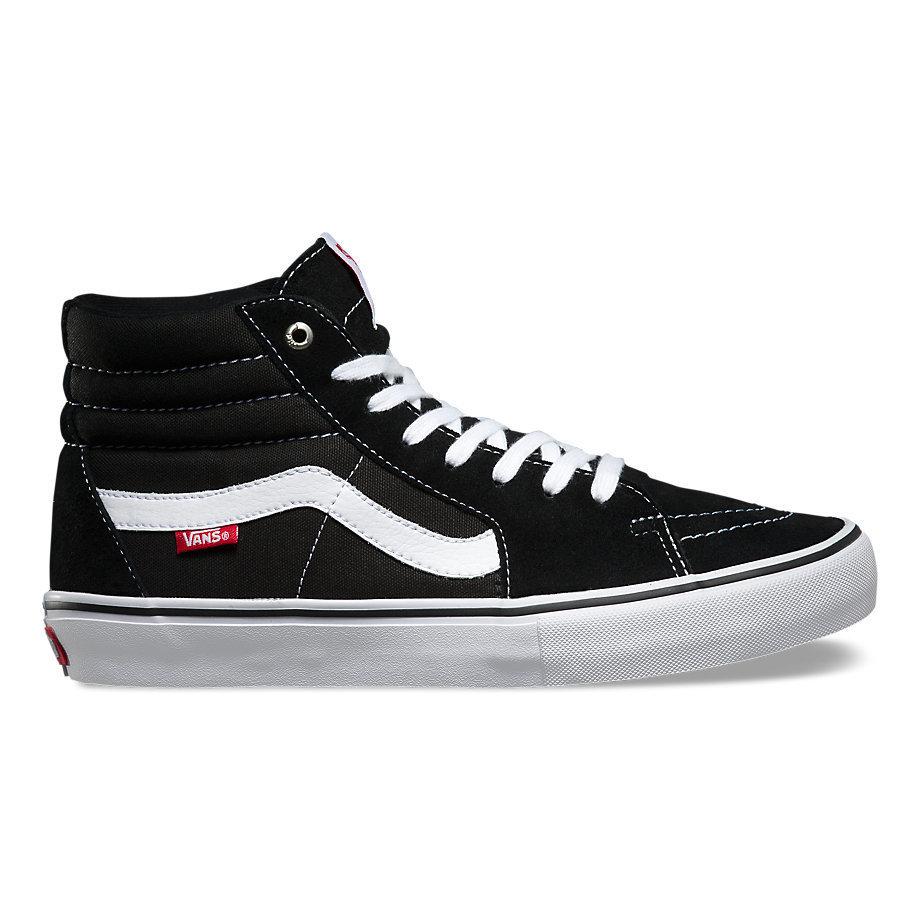 Vans Sk8 High Pro Shoe Black/White/Red