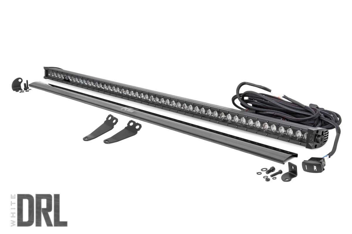 Polaris 50-Inch Single-Row Lower Windshield LED Kit | Black Series w/ White DRL (19-20 General)