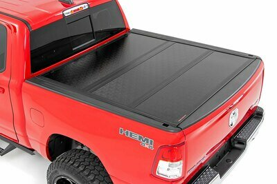 Dodge Low Profile Hard Tri-Fold Tonneau Cover (19-20 Ram 1500 Quad/Mega Cab | 5.7ft; Bed W/O Rambox)