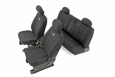 GM Neoprene Front & Rear Seat Covers | Black [14-18 1500]